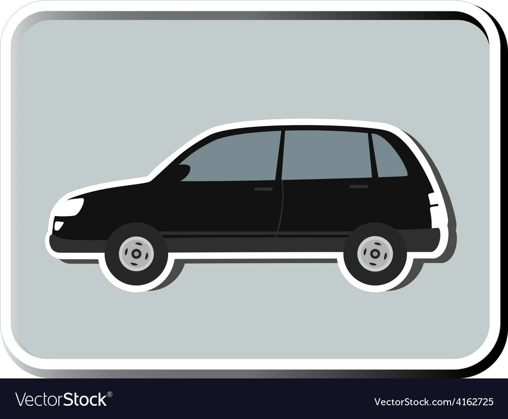 Icon with isolated suv vector | Price: 1 Credit (USD $1)