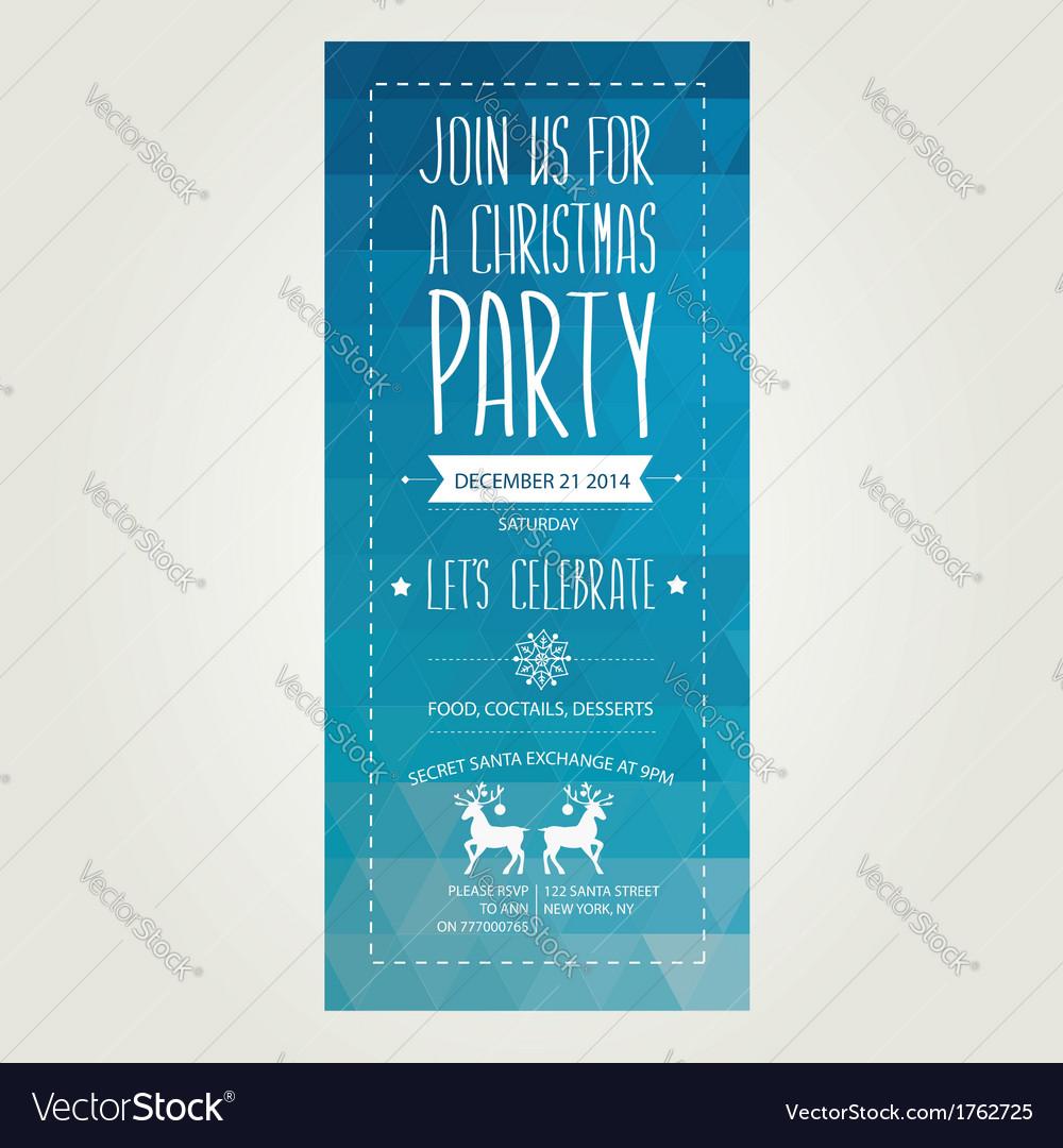 Invitation merry christmastypography vector | Price: 1 Credit (USD $1)