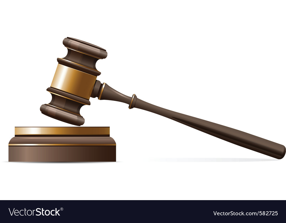 Judge gavel vector | Price: 3 Credit (USD $3)