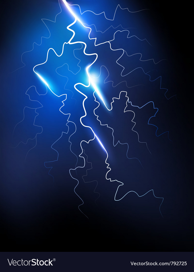 Lightning in the night sky vector | Price: 1 Credit (USD $1)