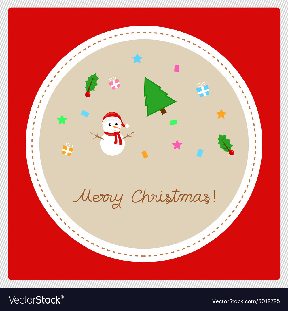 Merry christmas greeting card22 vector | Price: 1 Credit (USD $1)