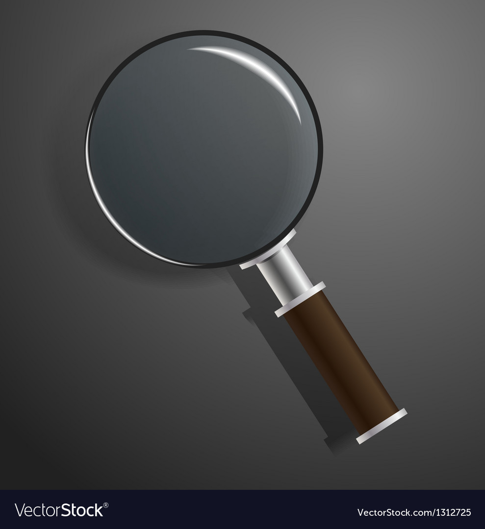 Model of magnifier on black vector | Price: 1 Credit (USD $1)
