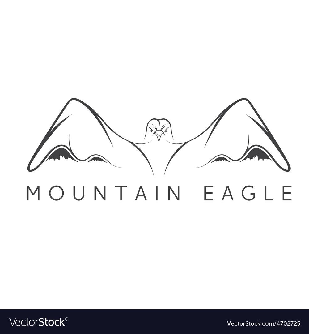 Mountain eagle design template vector | Price: 1 Credit (USD $1)