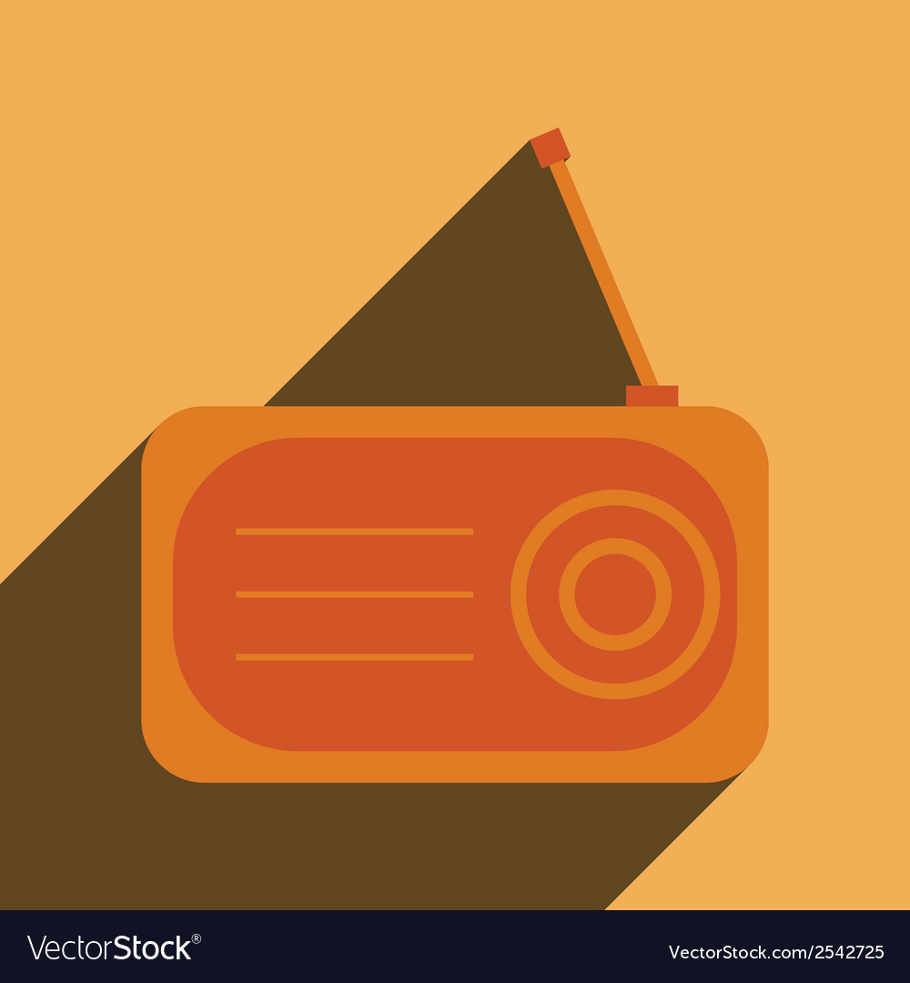 Radio flat icon silhouette vector | Price: 1 Credit (USD $1)