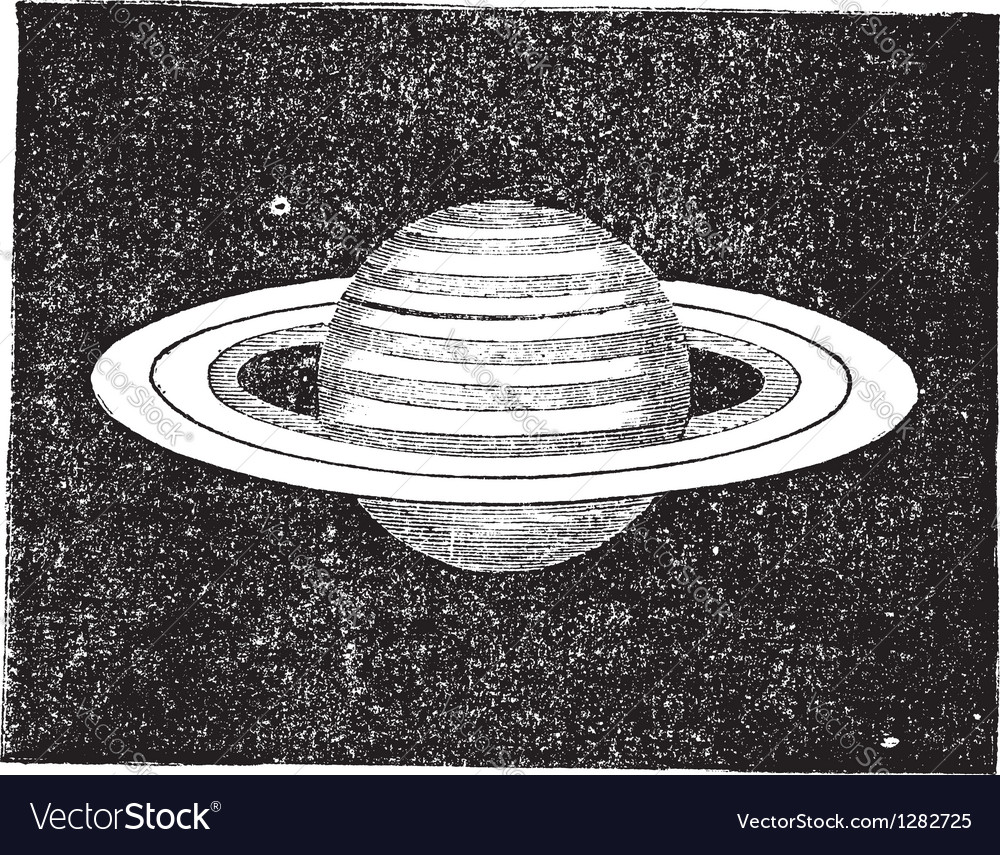 Saturn vintage engraving vector | Price: 1 Credit (USD $1)