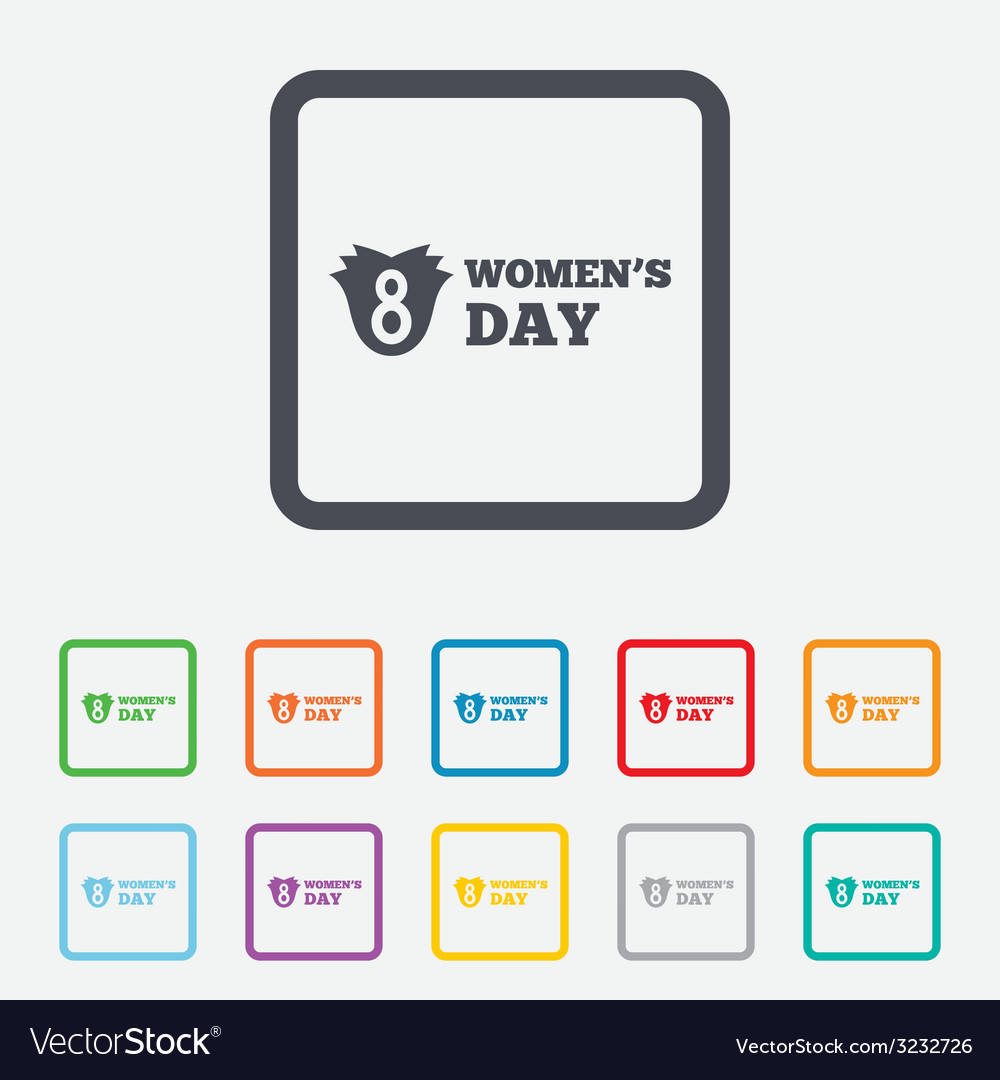 8 march womens day sign icon flower symbol vector | Price: 1 Credit (USD $1)