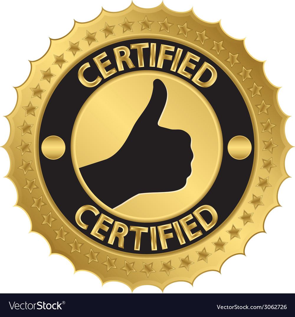 Certified golden label vector | Price: 1 Credit (USD $1)