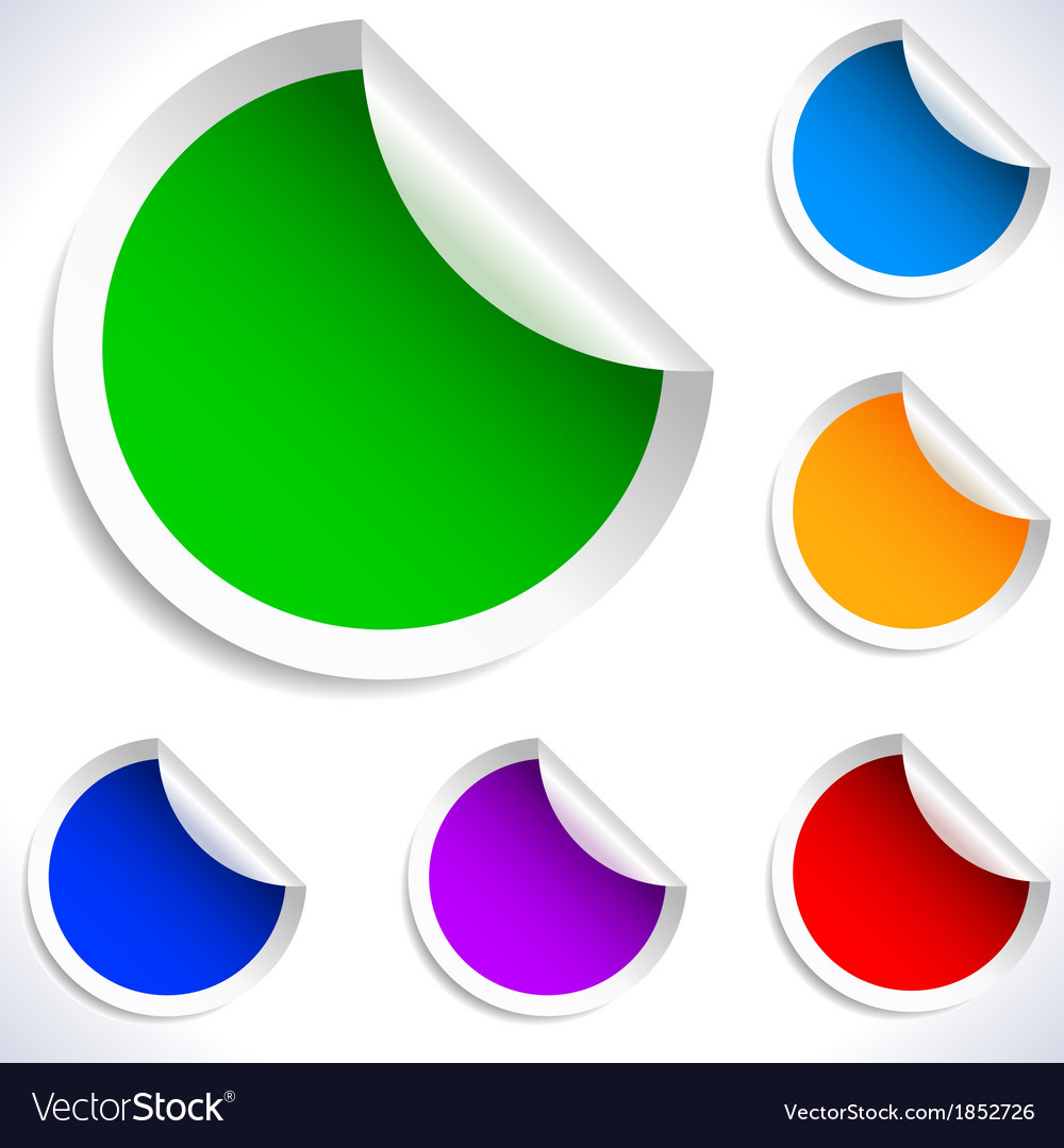 Colorful blank stickers vector | Price: 1 Credit (USD $1)