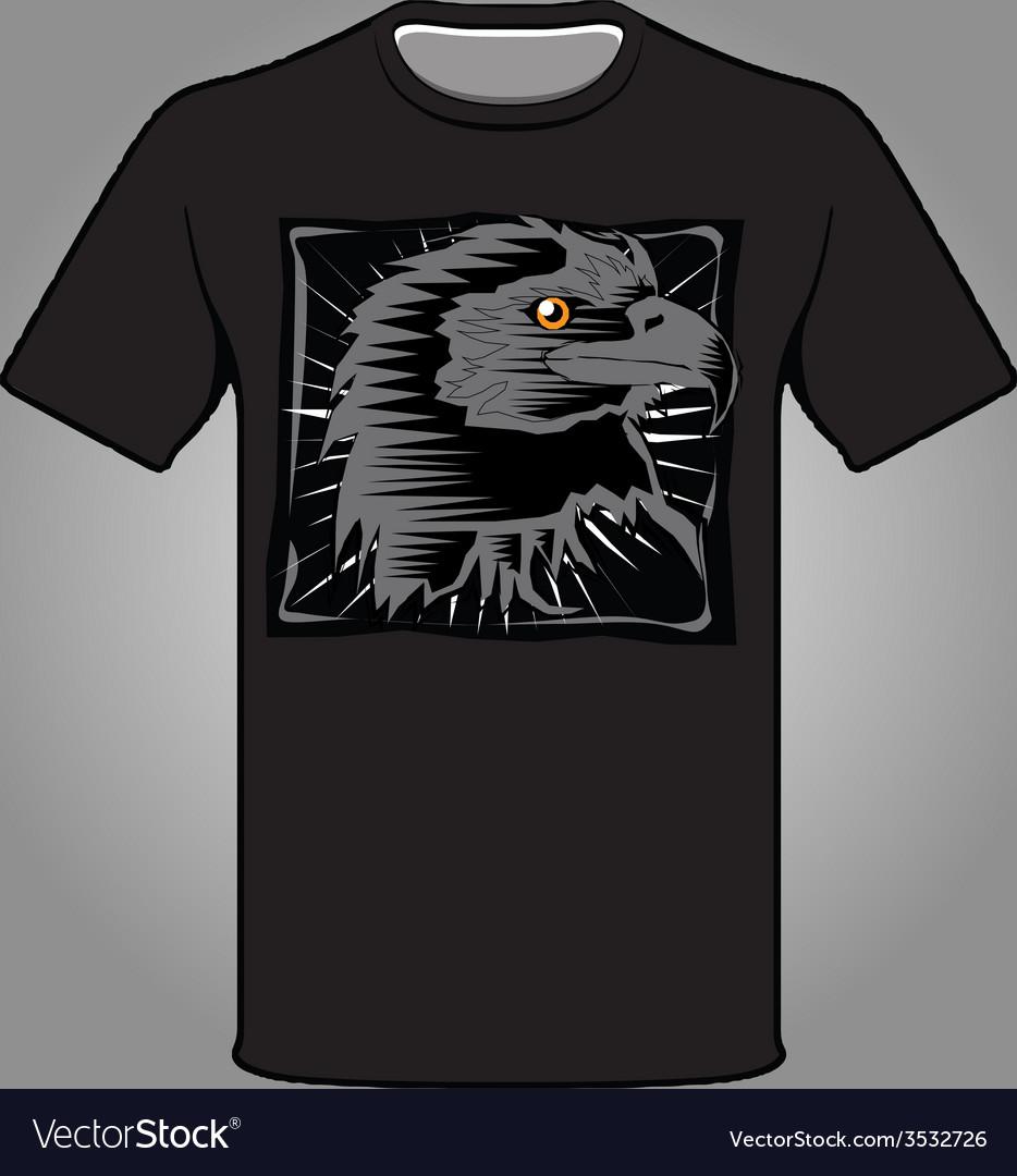 Falcon black t-shirt vector | Price: 1 Credit (USD $1)