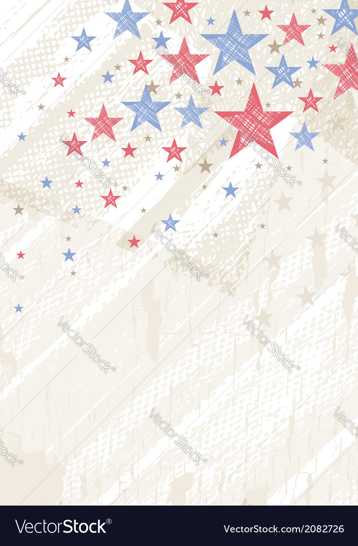 Grunge usa background with stars vector | Price: 1 Credit (USD $1)