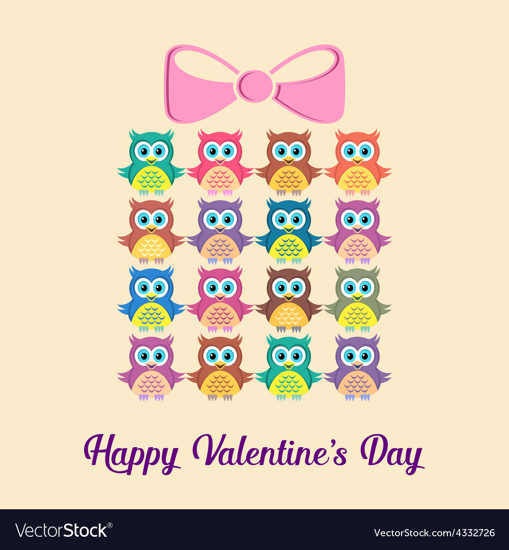 Happy valentine card vector | Price: 1 Credit (USD $1)