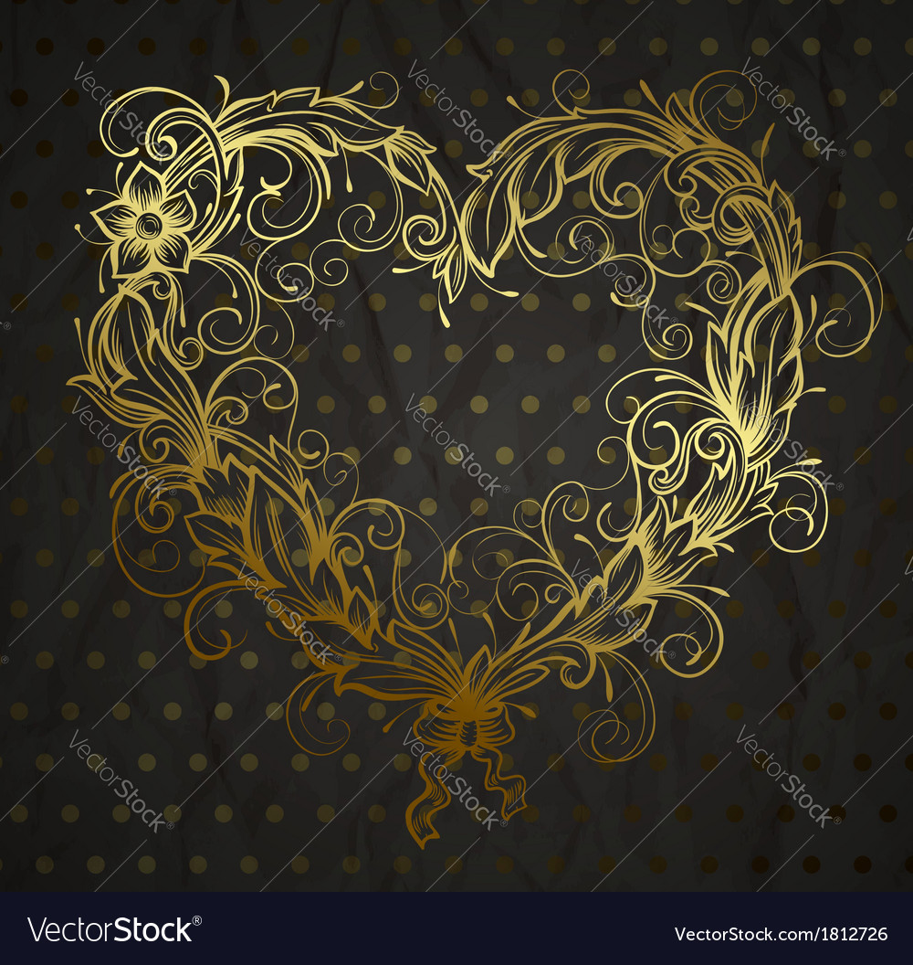 Heart drawn ornamental vector | Price: 1 Credit (USD $1)