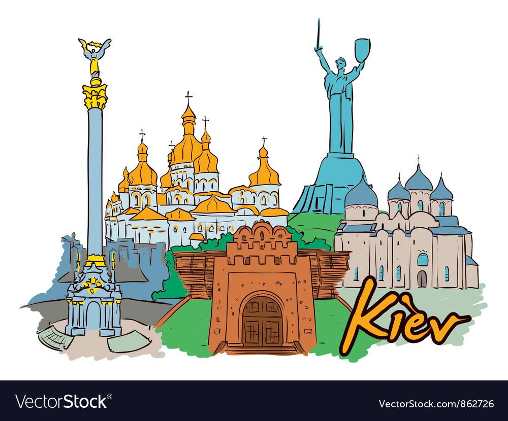 Kiev doodles vector | Price: 3 Credit (USD $3)