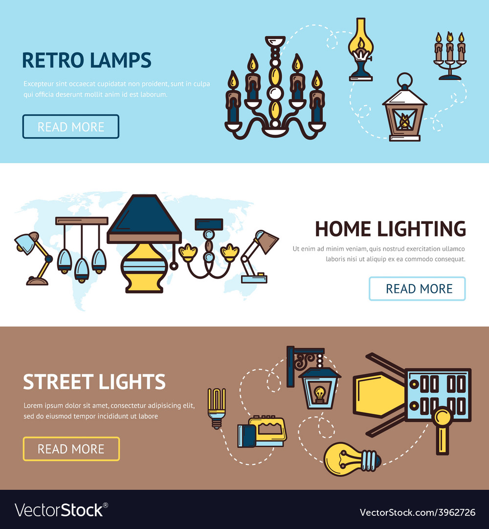 Light banners set vector | Price: 1 Credit (USD $1)