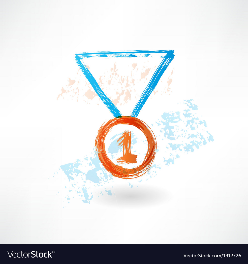 Medal grunge icon vector | Price: 1 Credit (USD $1)