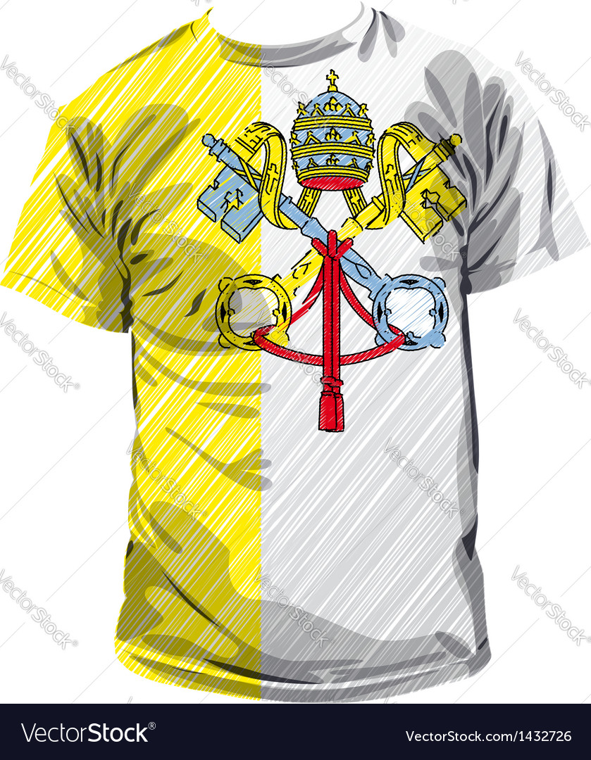 Vatican tee vector | Price: 1 Credit (USD $1)