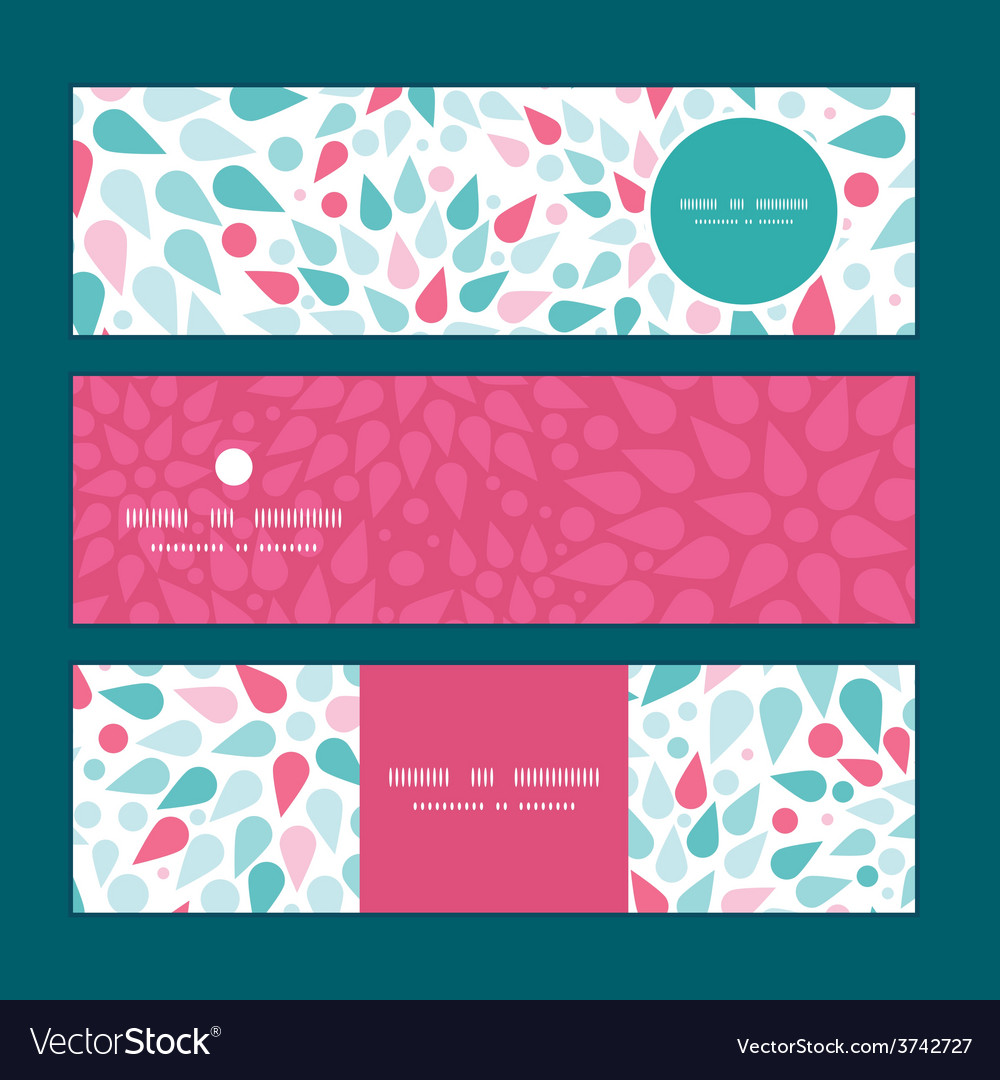 Abstract colorful drops horizontal banners vector