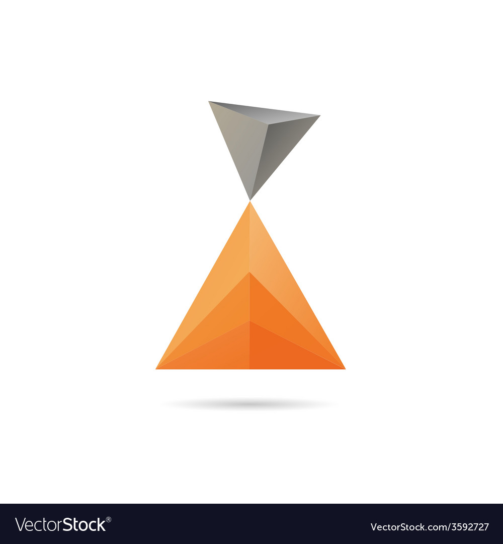 Abstract shape isolated vector