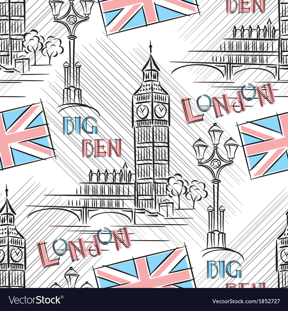 Big ben seamless vector | Price: 1 Credit (USD $1)
