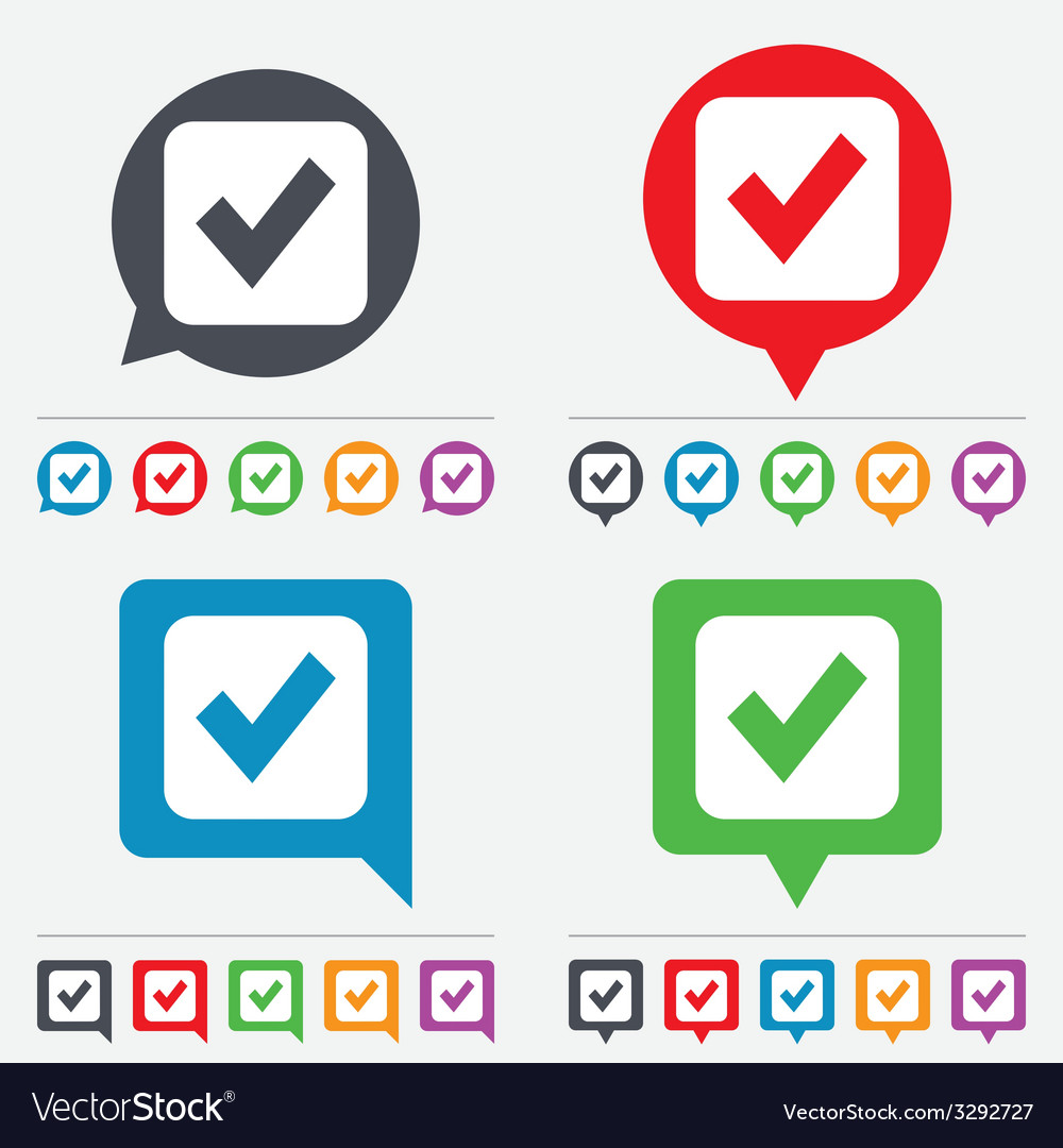 Check mark sign icon checkbox button vector | Price: 1 Credit (USD $1)