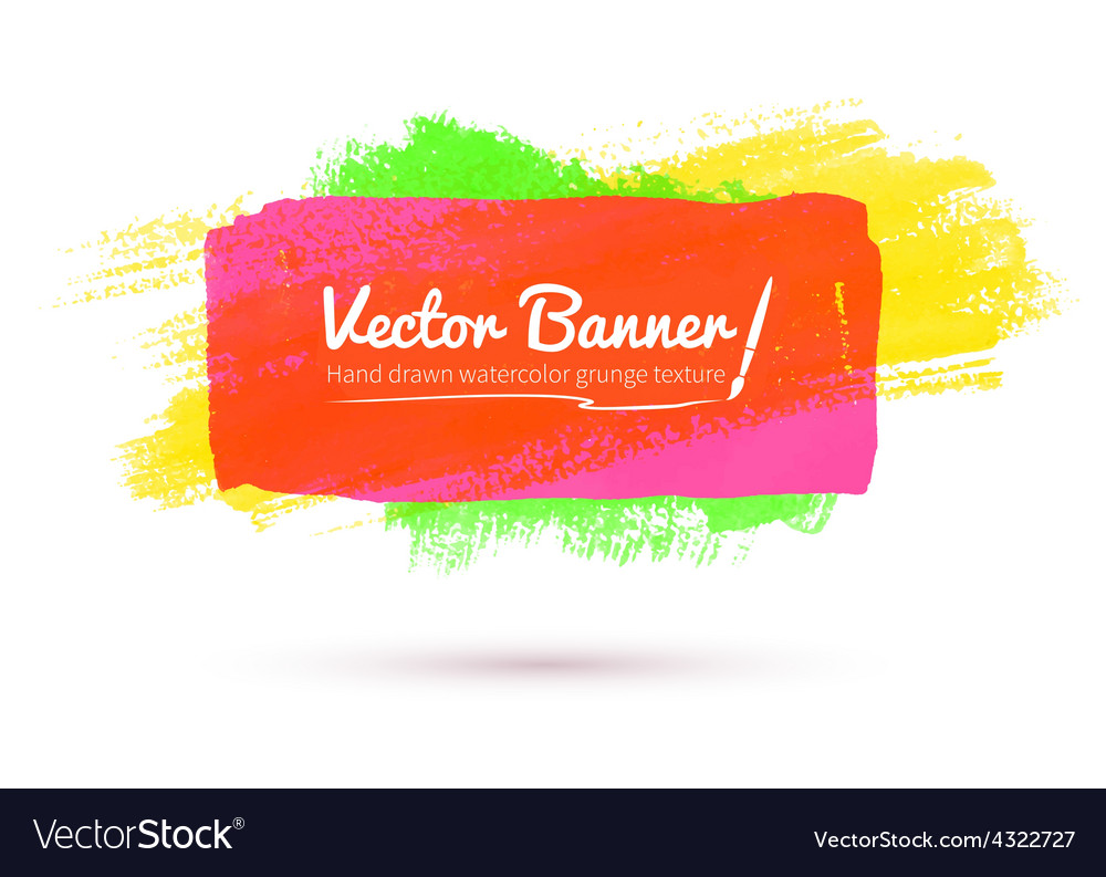 Colorful watercolor banner vector | Price: 1 Credit (USD $1)