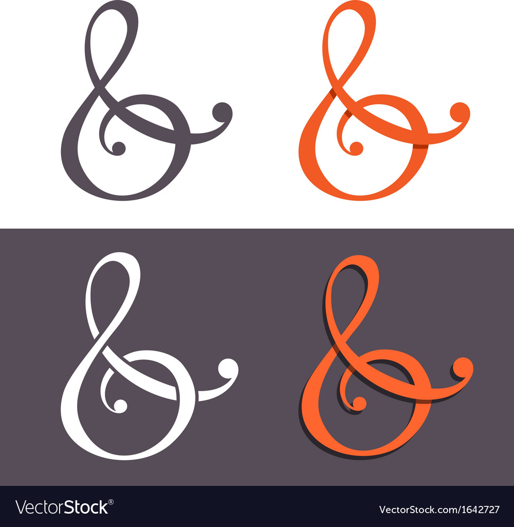 Custom ampersands vector | Price: 1 Credit (USD $1)