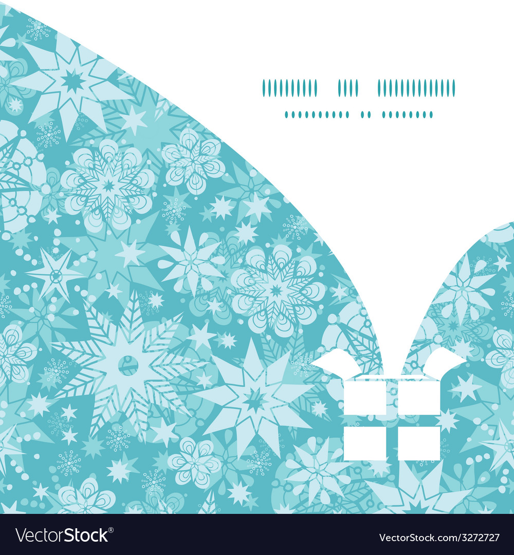 Decorative snowflake frost christmas gift box vector | Price: 1 Credit (USD $1)