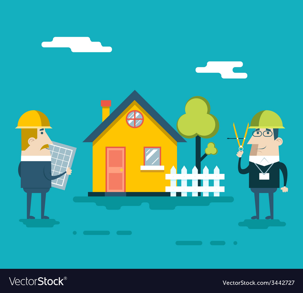 Happy builder designer engineer foreman characters vector   Price: 1 Credit (USD $1)