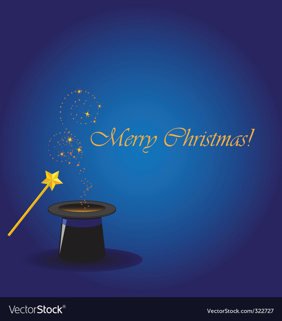 Magical merry christmas vector | Price: 1 Credit (USD $1)