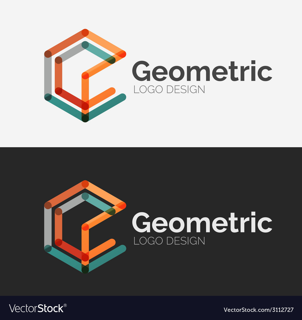 Minimal line design logo vector | Price: 1 Credit (USD $1)