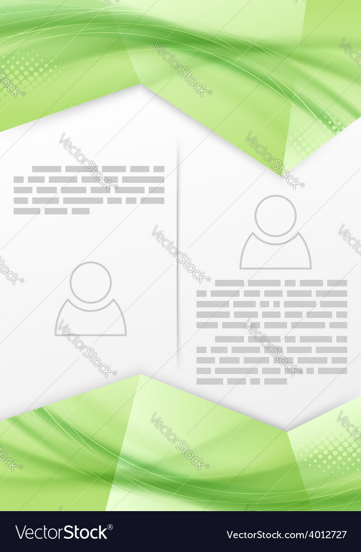 Print booklet green soft smooth line design vector | Price: 1 Credit (USD $1)