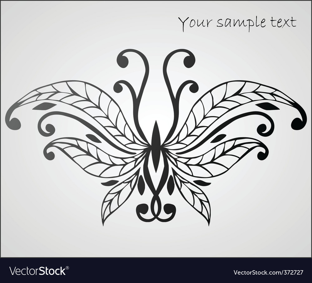 Stylized butterfly vector | Price: 1 Credit (USD $1)