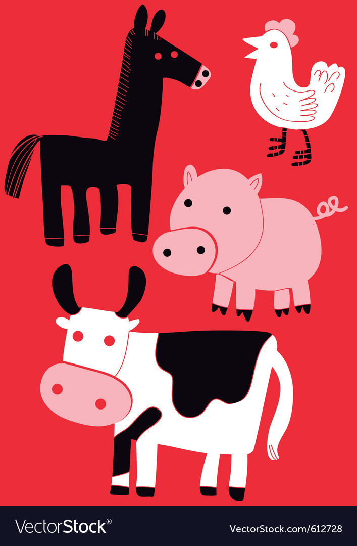 Animal farm set vector | Price: 3 Credit (USD $3)