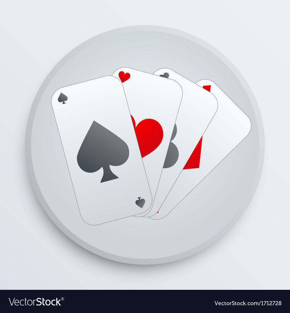 Casino simple icon card suits vector | Price: 1 Credit (USD $1)