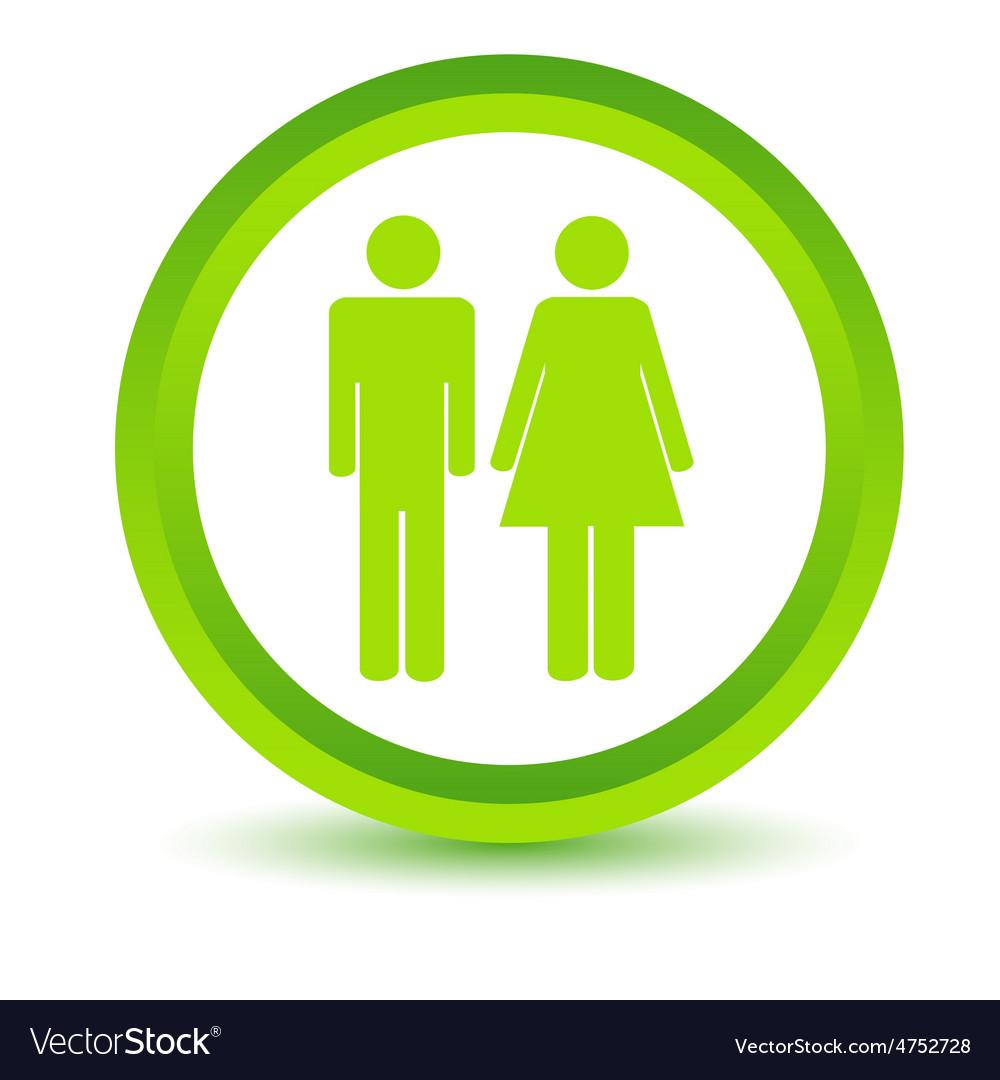 Man and woman volumetric icon vector | Price: 1 Credit (USD $1)