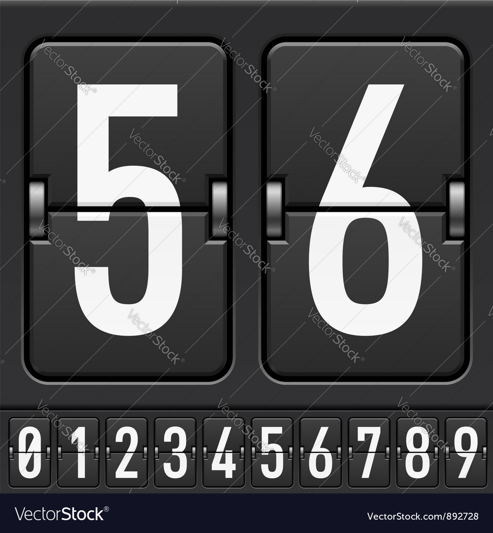 Mechanical scoreboard numbers vector | Price: 3 Credit (USD $3)