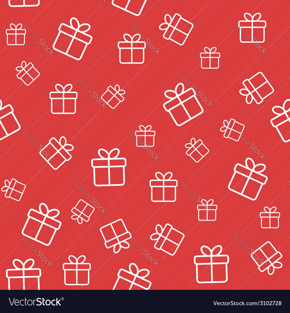 Red seamless pattern with gift boxes vector | Price: 1 Credit (USD $1)