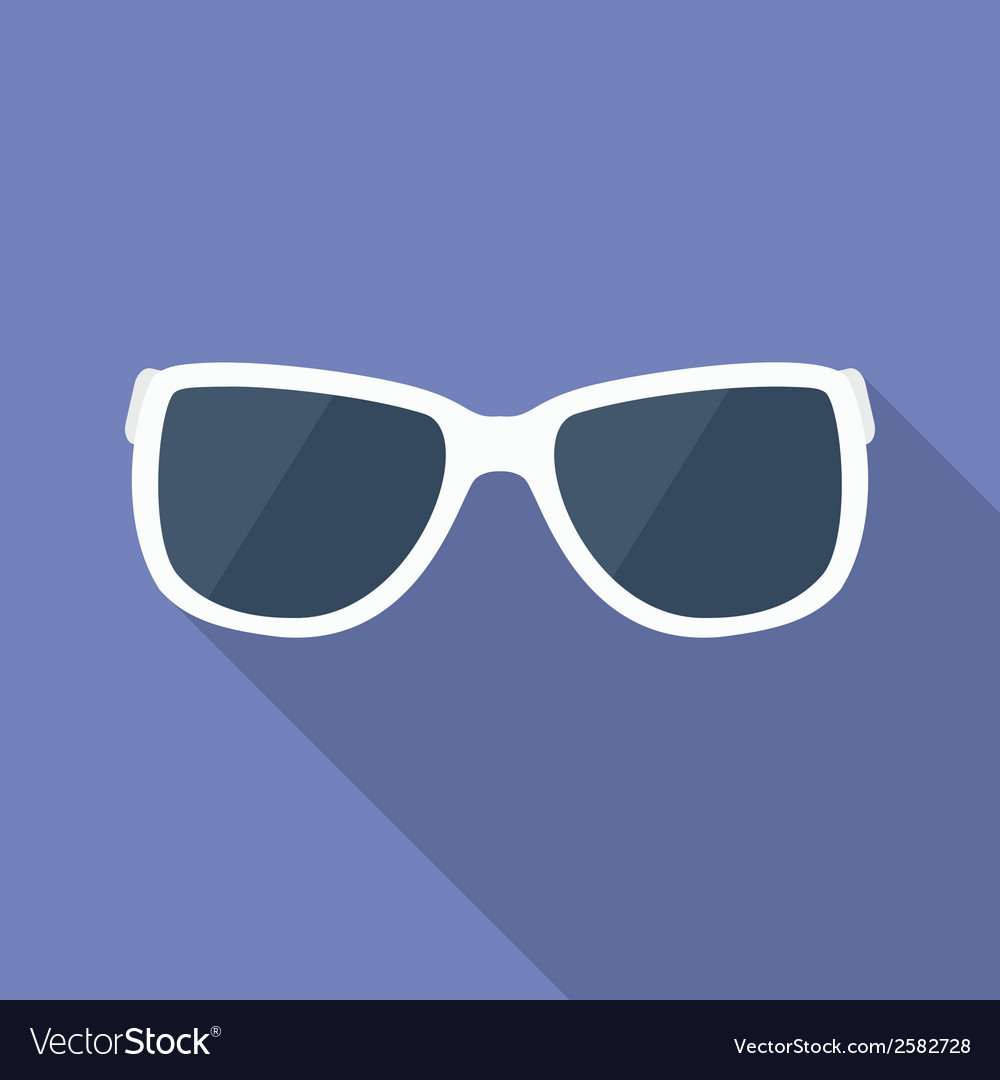 Sunglasses icon modern flat style with a long vector | Price: 1 Credit (USD $1)