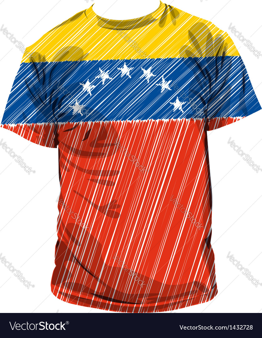 Venezuela tee vector | Price: 1 Credit (USD $1)