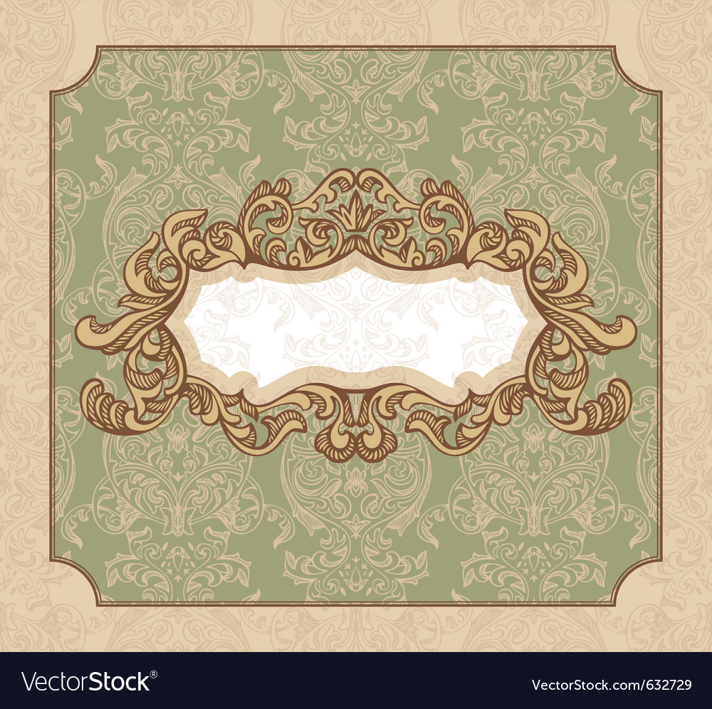 Abstract royal floral vintage frame vector | Price: 1 Credit (USD $1)
