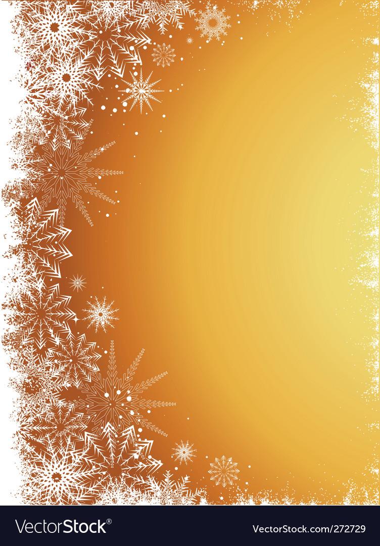Golden snowflakes vector | Price: 1 Credit (USD $1)