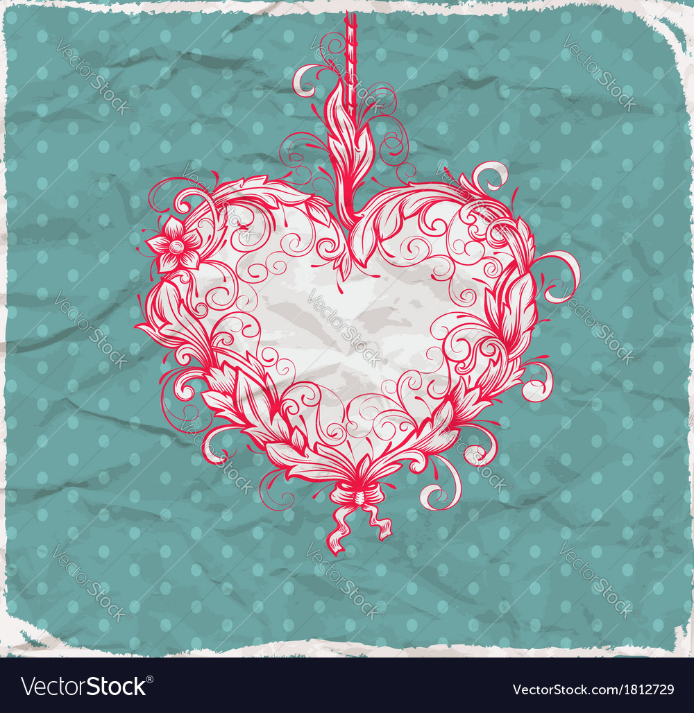 Heart drawn ornamental vector | Price: 1 Credit (USD $1)