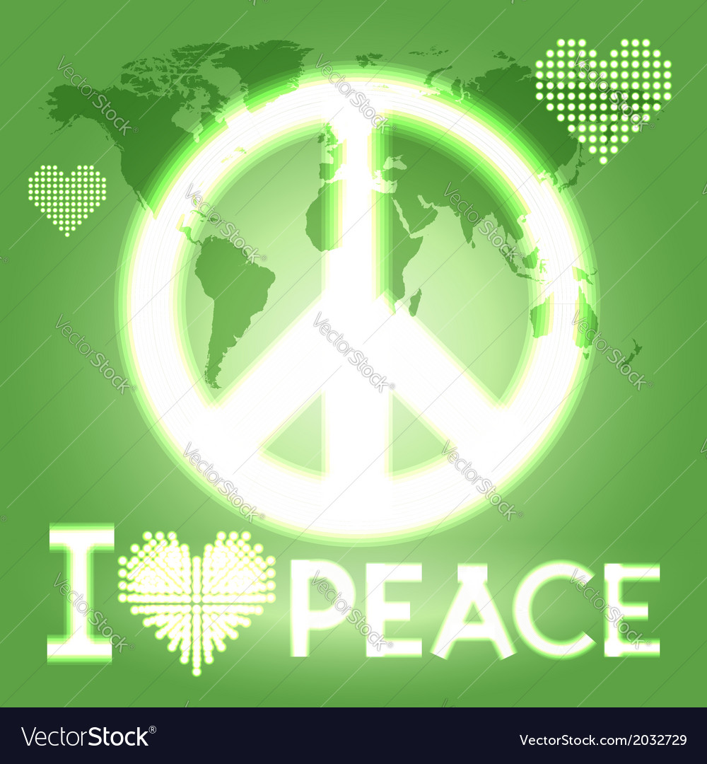 I love peace vector | Price:  Credit (USD $)