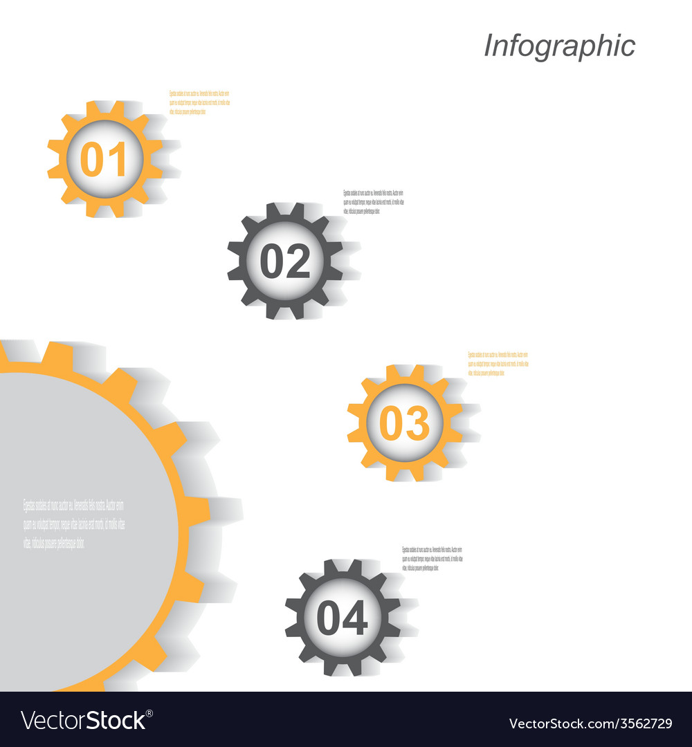 Infographic design with gear chain vector | Price: 1 Credit (USD $1)