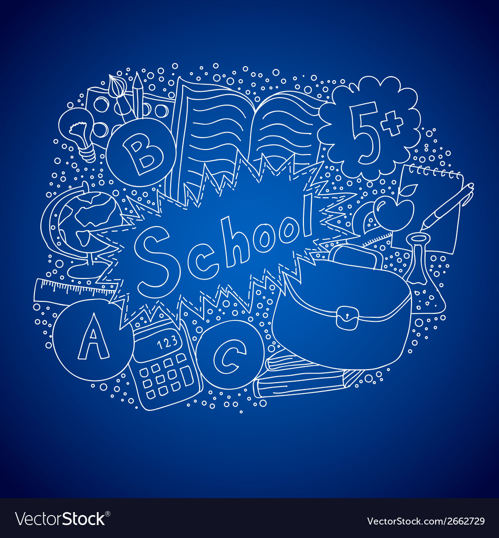 School doodle object vector | Price: 1 Credit (USD $1)
