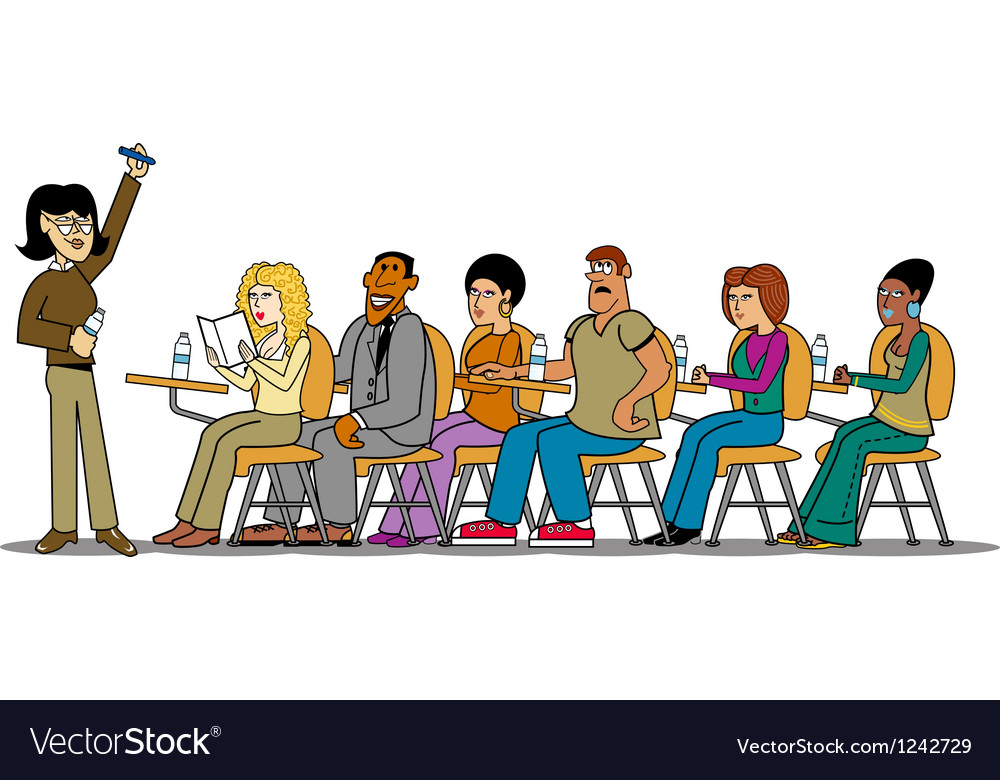 Teacher students in class vector | Price: 3 Credit (USD $3)