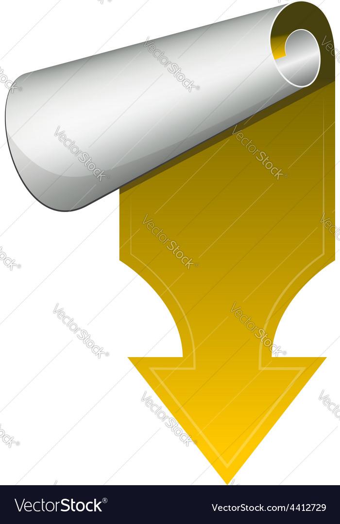Yellow arrow vector | Price: 1 Credit (USD $1)