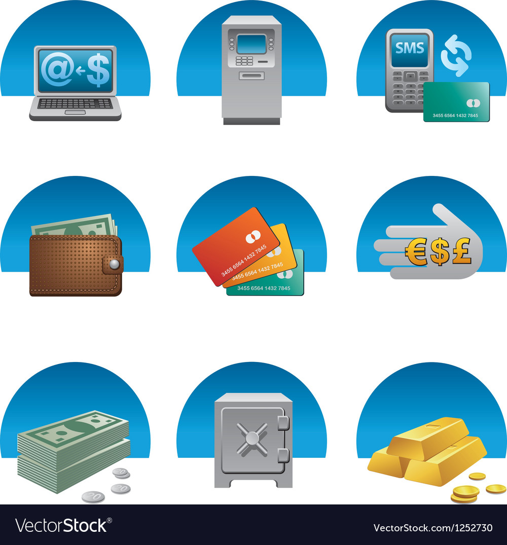 Banking icons vector | Price: 3 Credit (USD $3)