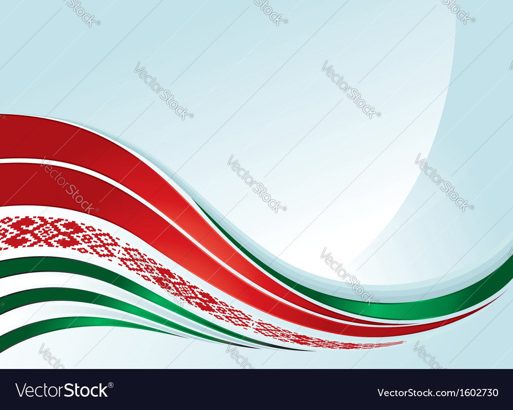 Belarus flag design with line and ornament vector | Price: 1 Credit (USD $1)