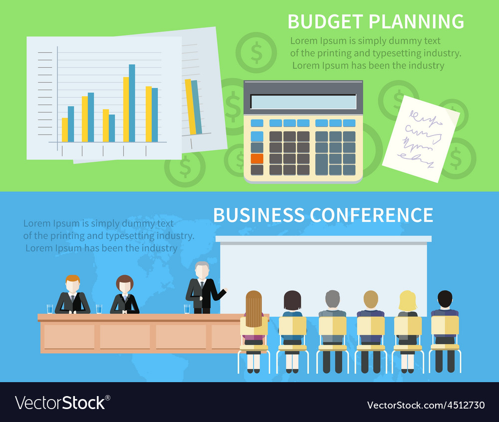 Business conference and budget planning vector | Price: 1 Credit (USD $1)